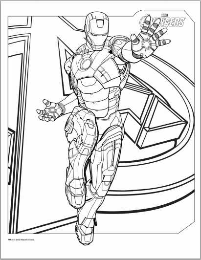 The Avengers: Iron Man Coloring Page title=