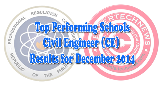 foto de Civil Engineer (CE) Board Exam Results December 2014 Top Performing Schools CEnterTechNews
