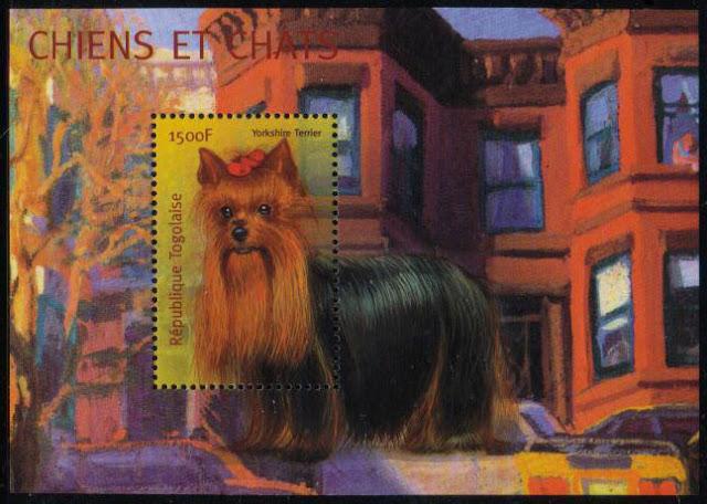 年度不明トーゴ共和国 ヨークシャー・テリアの切手シート