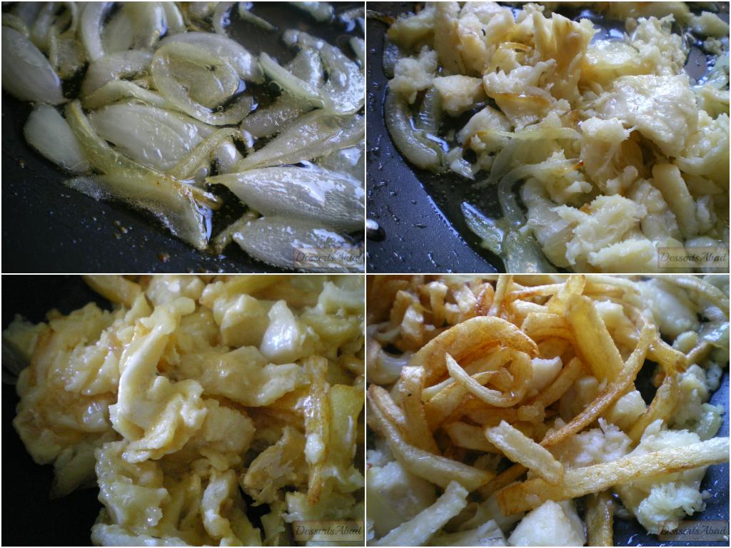 Bacalao dorado (elaboración)