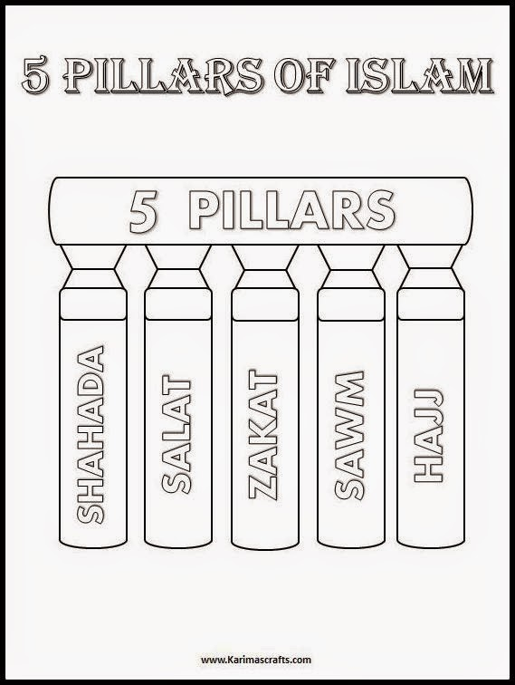 Free download link to the 5 pillars of islam colouring 5pillars pdf