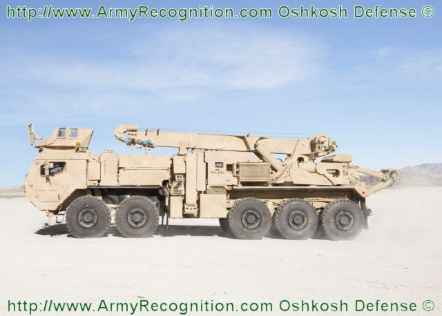 oshkosh defense unveils new hrs heavy recovery system truck at