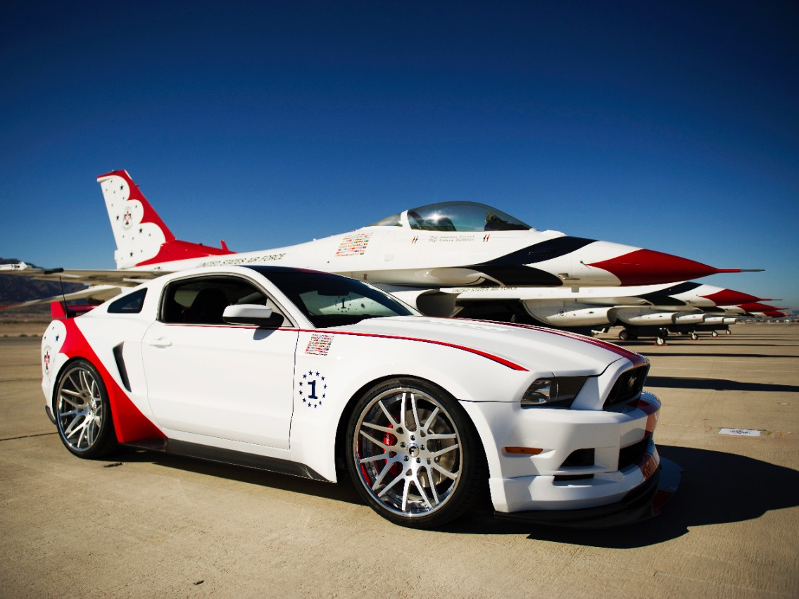 2014 U.S. Air Force Thunderbirds Edition Ford Mustang Sold For $398,000