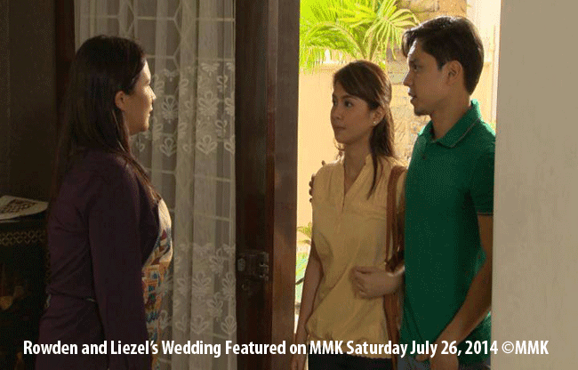 Carlo Aquino as Rowden and Kaye Abad as Liezel on MMK Episode Saturday July 26, 2014