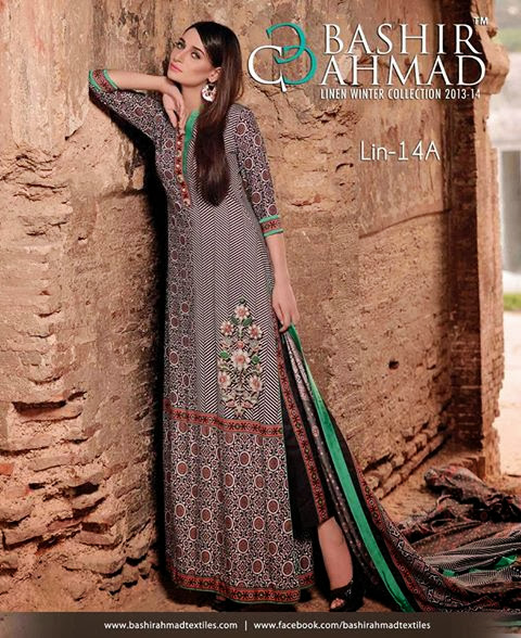 Bashir Ahmad Linen Winter Collection 2013-14