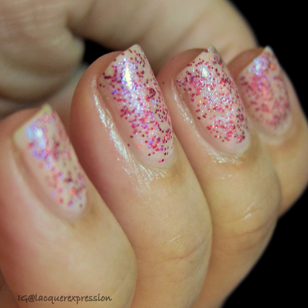 swatch of explosion of fun nail polish by orly