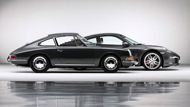 50 years anniversary of Porsche 911 side