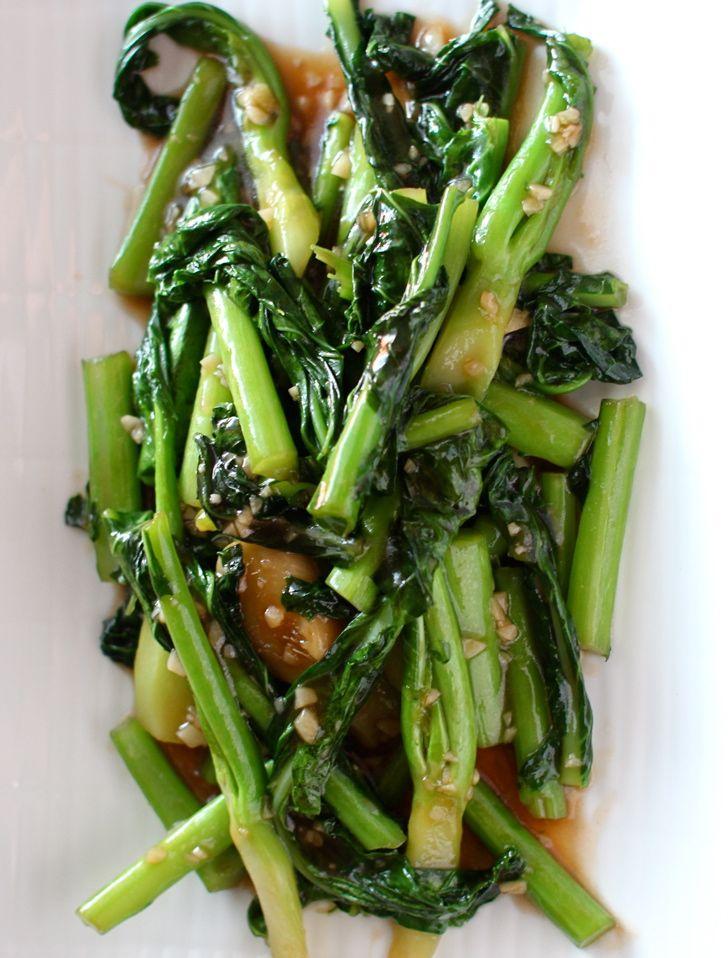 Scrumpdillyicious: Stir Fried Gai Lan with Garlic & Oyster Sauce