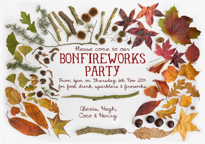 Bonfire night party invitation - www.somethingimade.co.uk