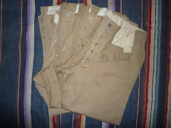 30's~40's U.S.ARMY METAL BUTTON CHINO PANTS