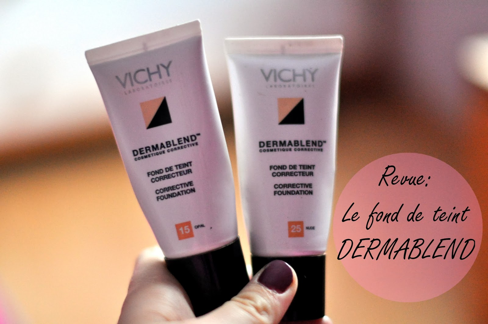le fond de teint dermablend de vichy mon produit phare my girly closet. Black Bedroom Furniture Sets. Home Design Ideas