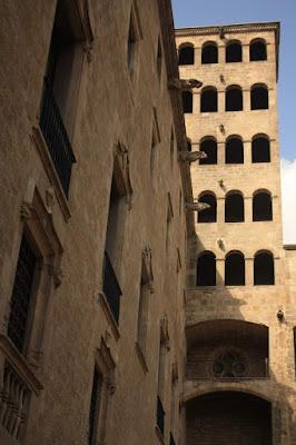 Watchtower of El Palau Reial in Barcelona