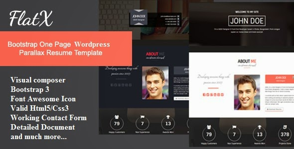 Onepage Parallax Resume template