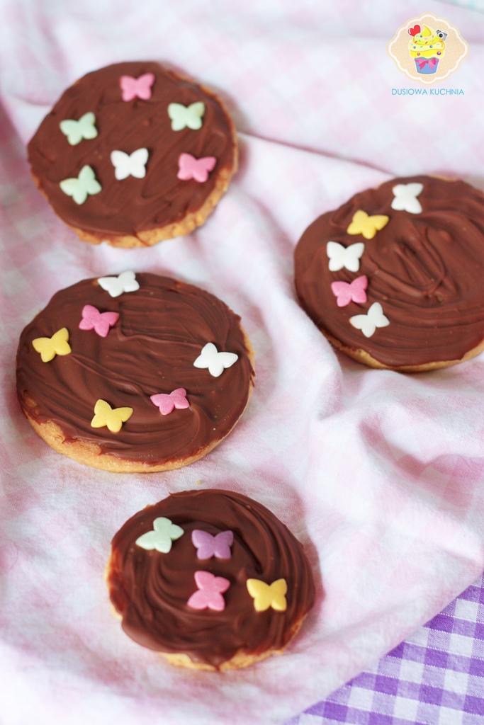 kruche ciasteczka, kruche z czekoladą, ciasteczka z czekoladą
