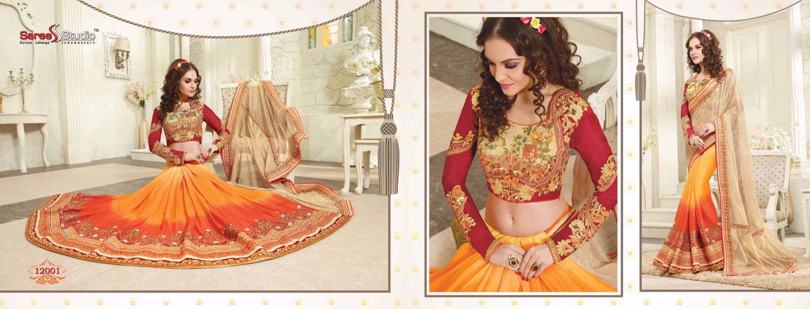 Lamora -Designer Embroidered Saree With Fancy Blouse