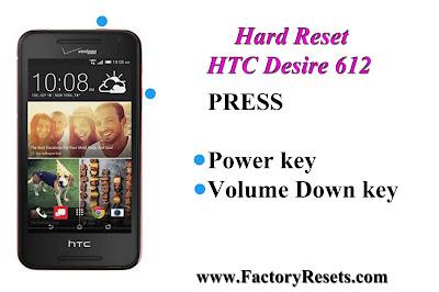 Hard Reset HTC Desire 612
