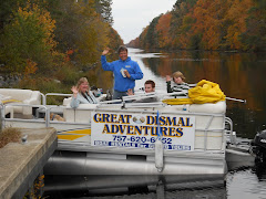 Robert the Dismal Swamp Lockmaster, in one of his tour boats