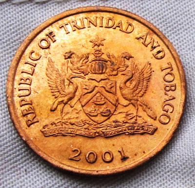 Trinidad /& Tobago 2001-5 Cents Bronze Coin Bird of Paradise