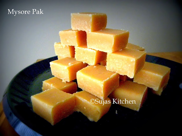 How to make Mysore Pak (with step by step pictures)