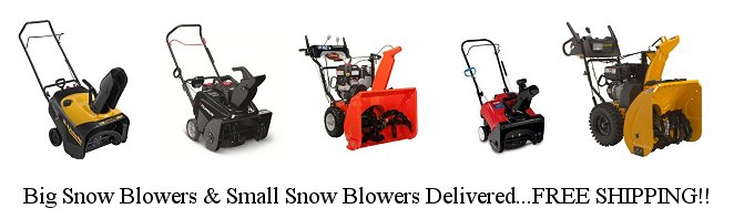 Snowblowers Free Shipping