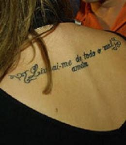 Tattoos Femininas com Frases