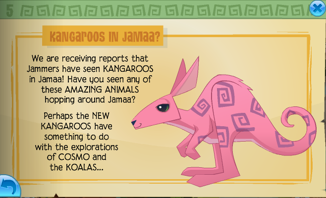 And it seems the new land is very likely something to do with kangaroos Looks like were on the right track. ^.^ And here is this updates calendar,