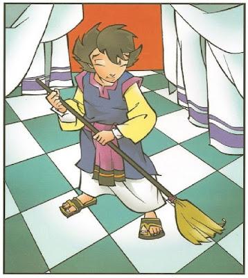 Samuel servindo no templo