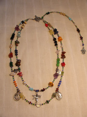 Short Necklace - Multicolor - Different Stones & Angels -PP- Nec 6
