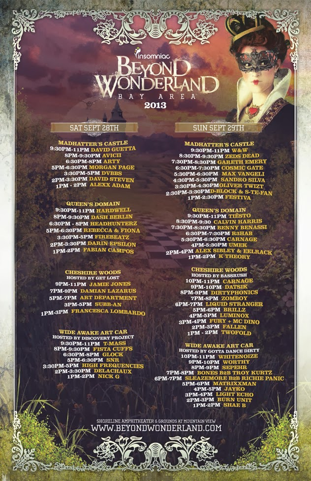 Beyond wonderland time slots royal flush odds 3 card poker