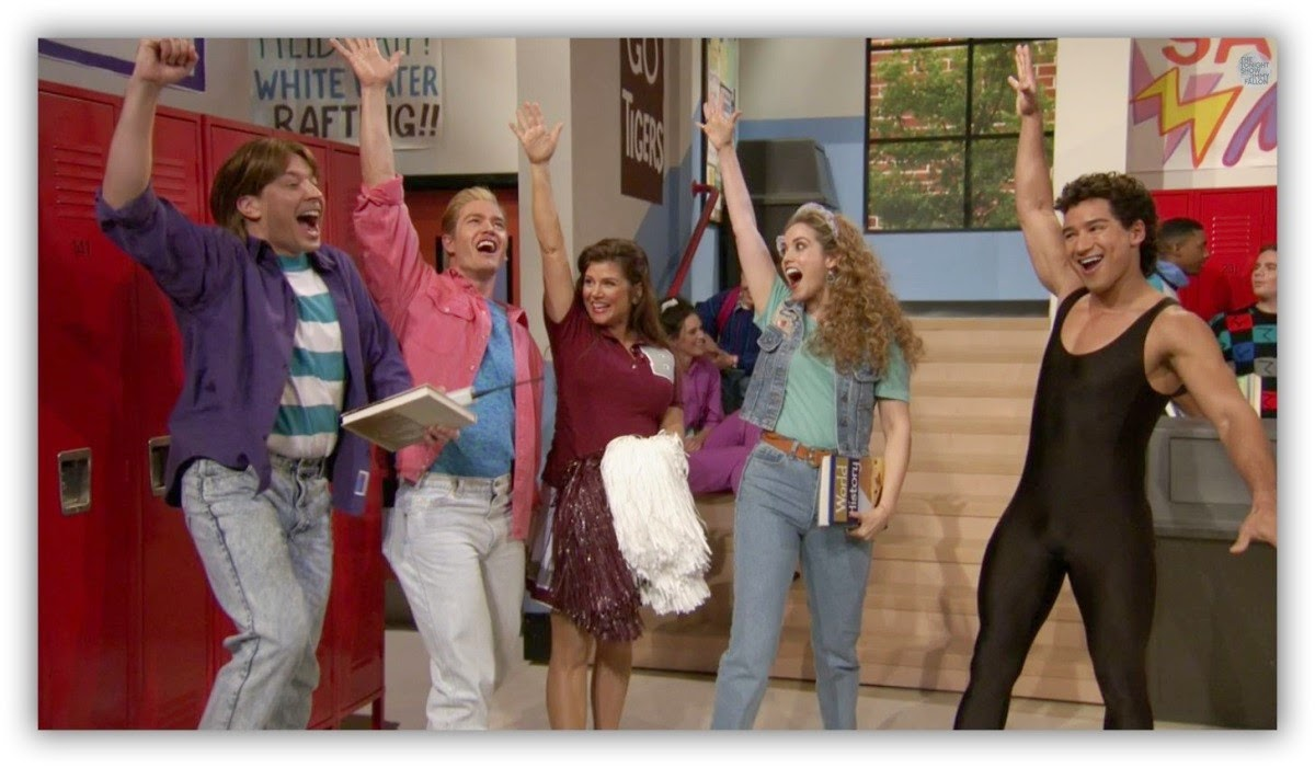 The Tonight Show, Jimmy Fallon, Saved by the Bell Reunion, Reunión Salvados por la Campana