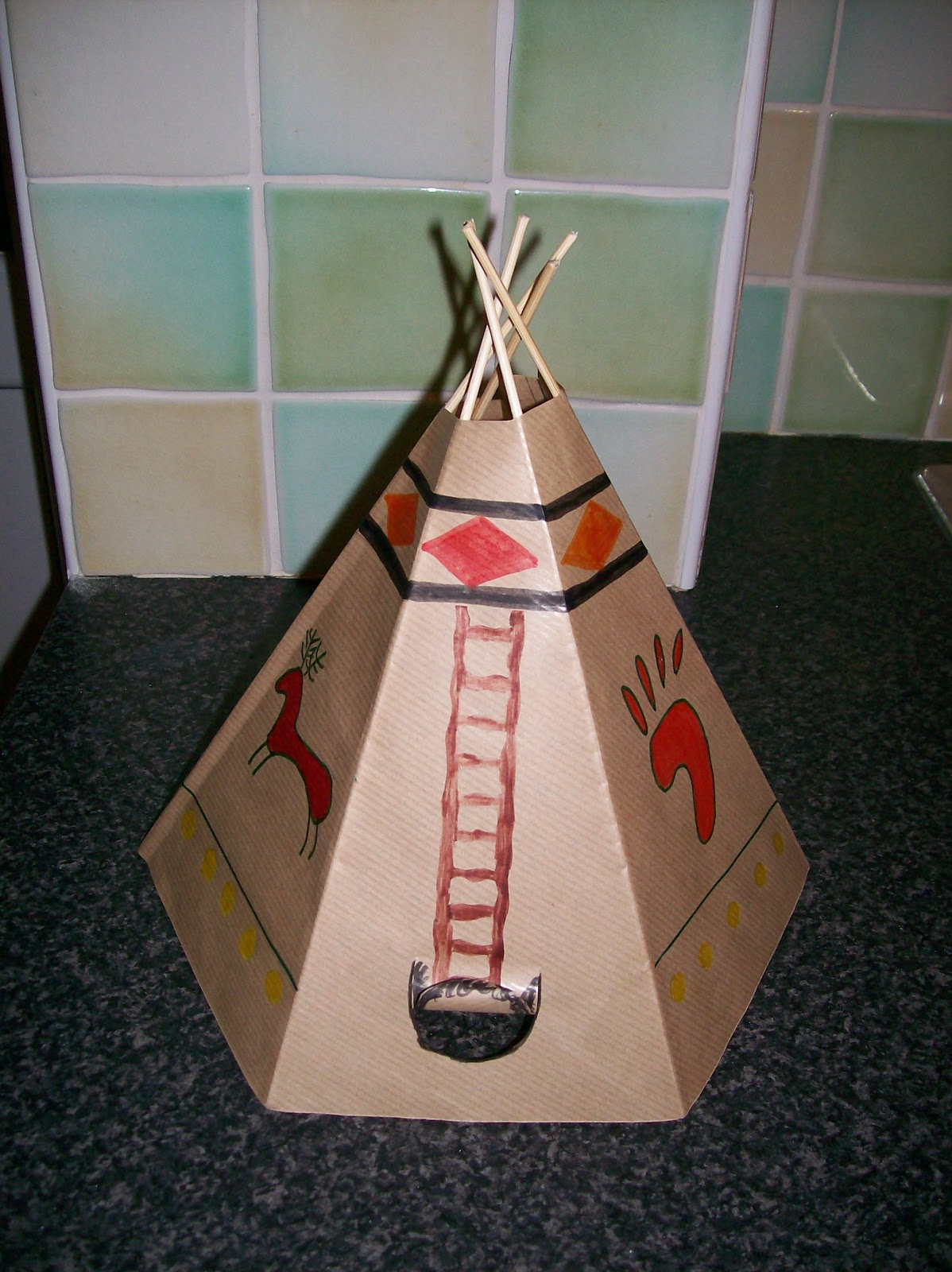 All Sorts Dad 39 S School Project Building A Teepee