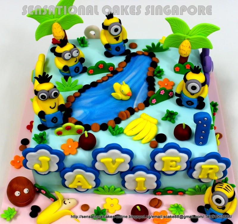 The Sensational Cakes minions party theme minion having jungle