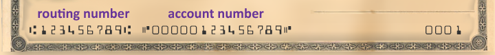 cheque numbers