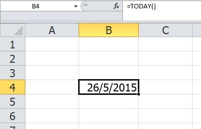 image shows the way to calculate date in an Excel