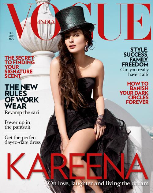 Kareena Kapoor on the cover of Vogue India