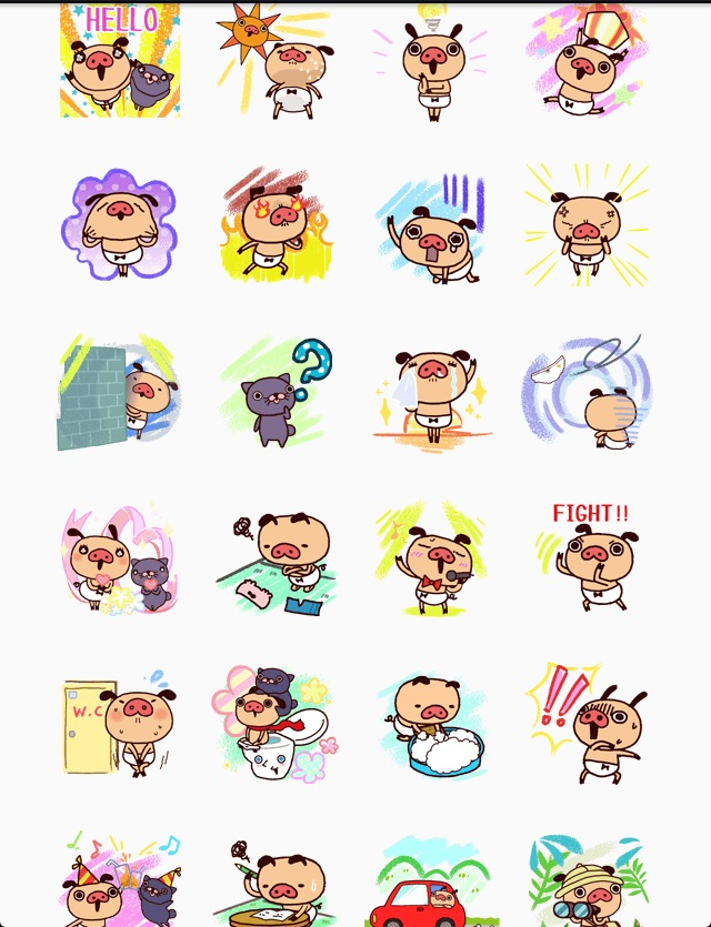 Panpaka Pants Parts2 line stickers
