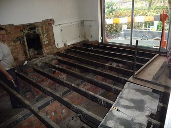 Step 1 - remove floorboards carefully (for re-use as the attic floor when the loft conversion happens) & Diary of an Eco Retrofit: Preparing the ground floor for insulation