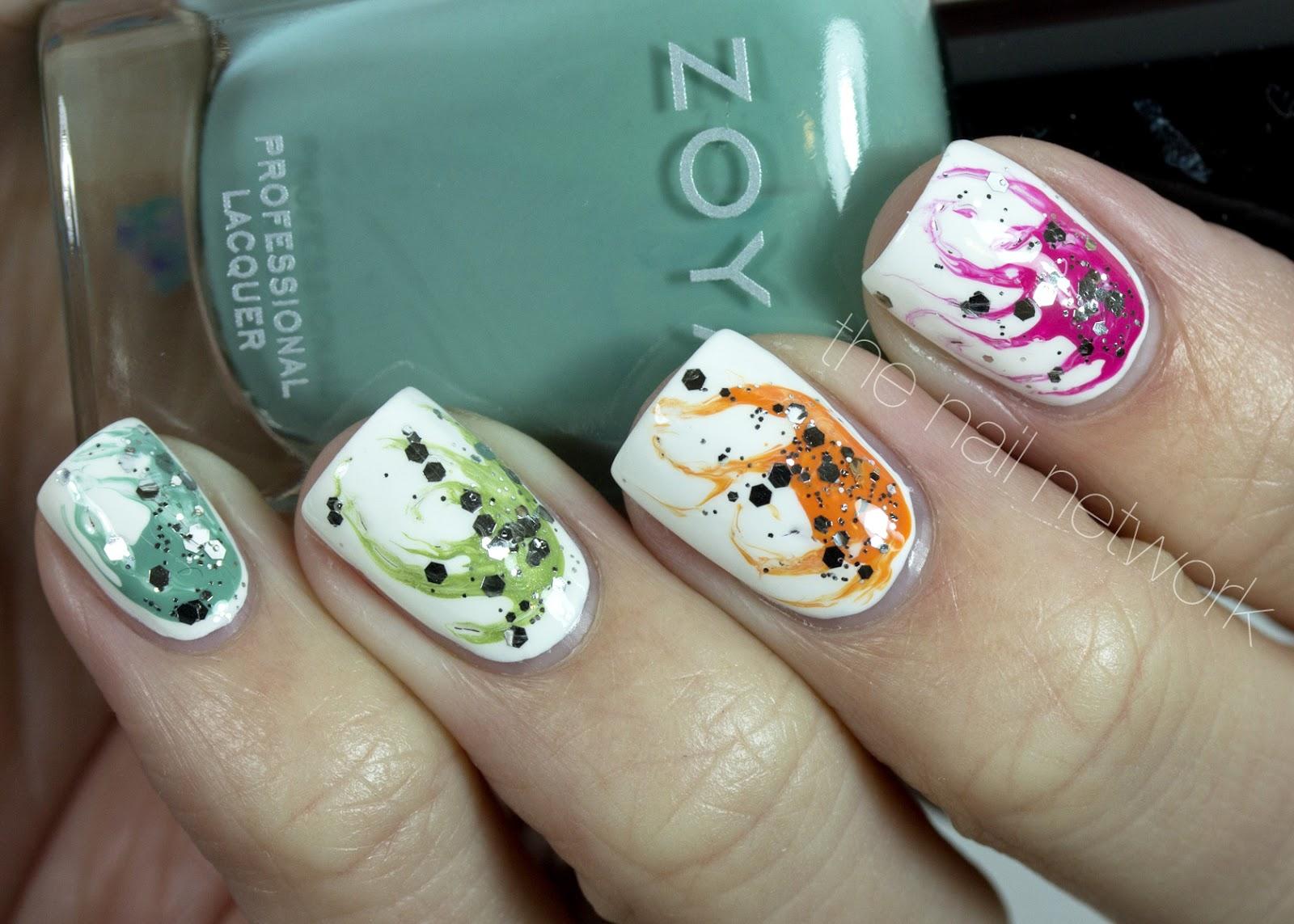 Красивые узоры на ногтях иголкой фото