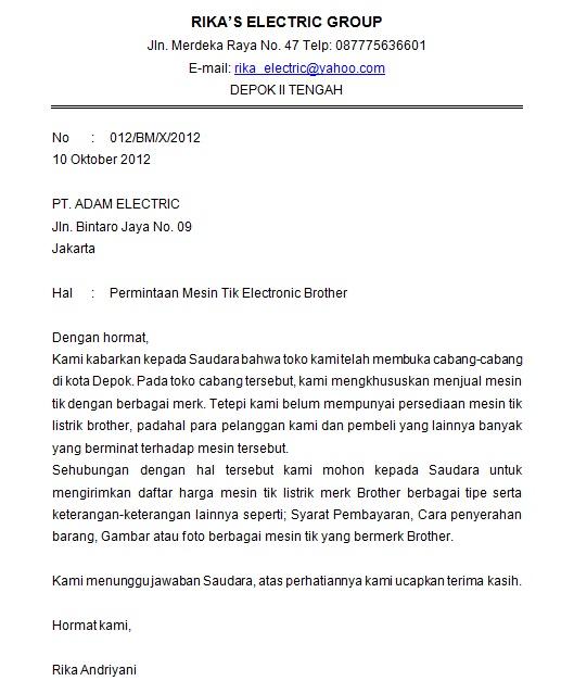 Rickaandriyani Contoh Surat Permintaan Contoh Surat Penagihan