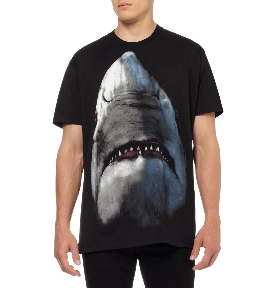 Givenchy pre fall winter 2012 shark print t shirt and Givenchy t shirt price