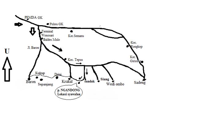 peta pantai Ngandong