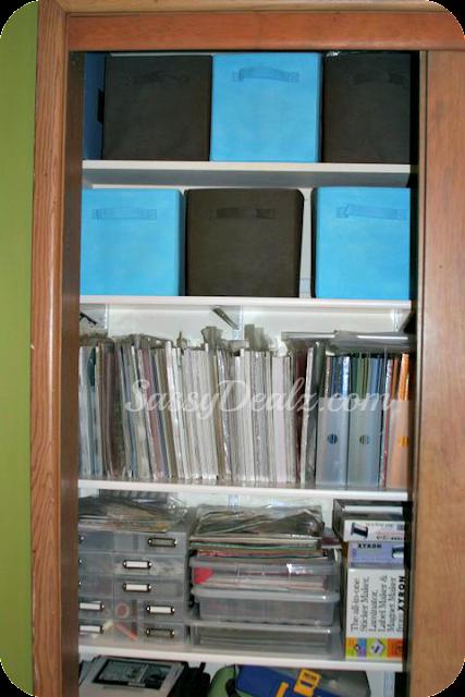 organizing scrapbooking closet or crafts