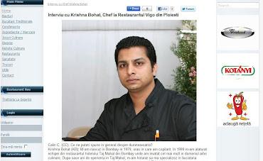 ardei-iute.ro - interviu cu chef Krishna Bohat