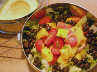 Mango & Grape Tomato Salad