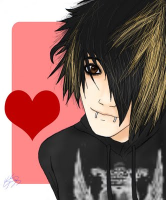 emo anime love drawings. hair emo anime Image emo love