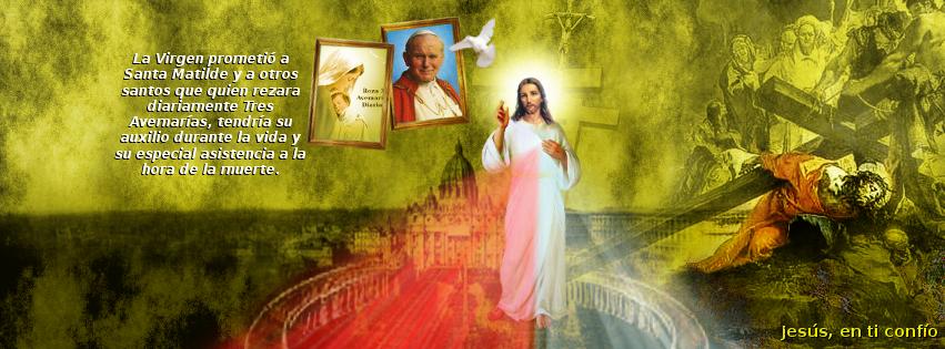 jesus con el papa y caida