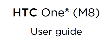 HTC One M8 Manual