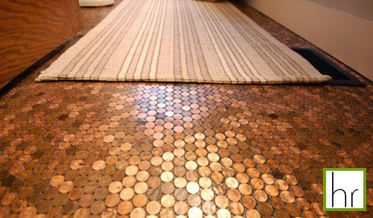 How to Make a Penny Floor