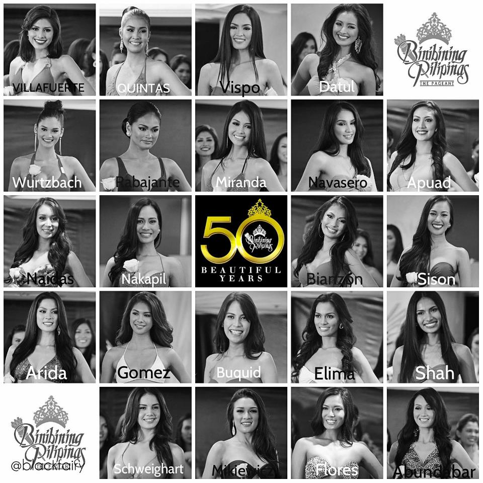 of Binibining Pilipinas Charities Inc., introduced the 50 candidates
