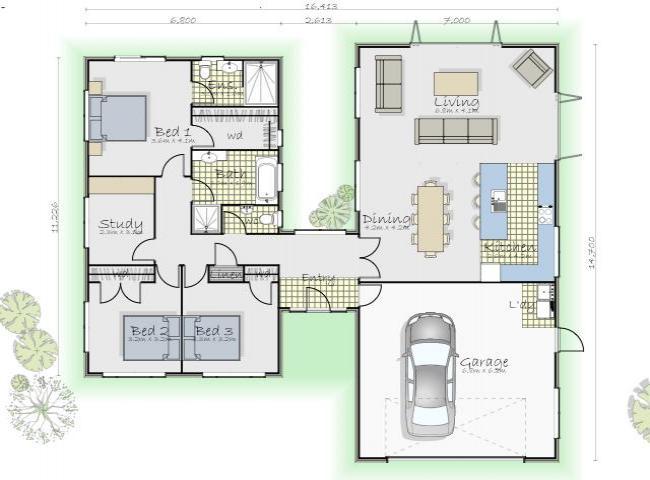 Baño Familiar Medidas:Descargar Planos de Casas y Viviendas Gratis Fotos de Planos de